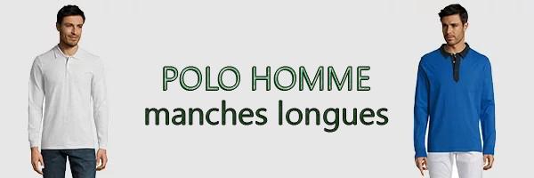 polo homme manche longues
