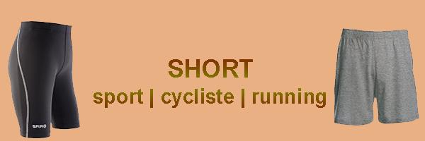 short cycliste et running