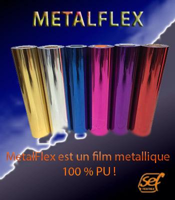flex effet metallique