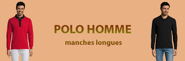 polo homme manche longues